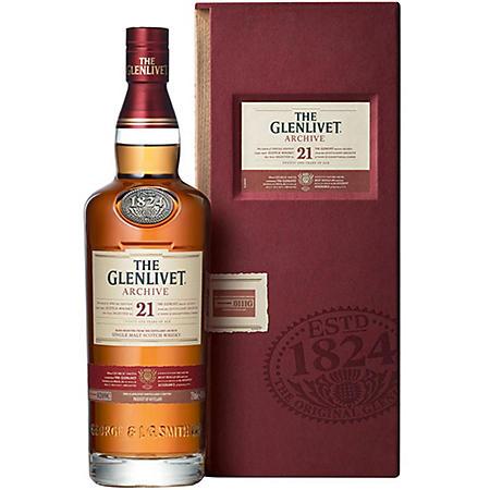 The Glenlivet Single Malt Scotch Whisky 21 Year Old (750 ml)