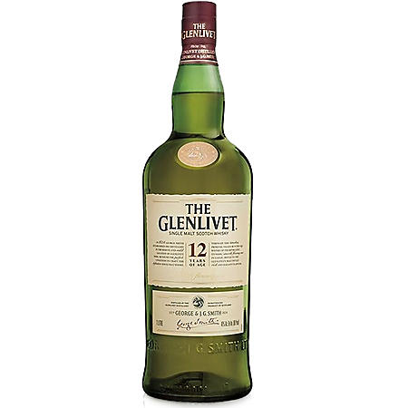 The Glenlivet 12 Year Single Malt Scotch Whisky (1 L)