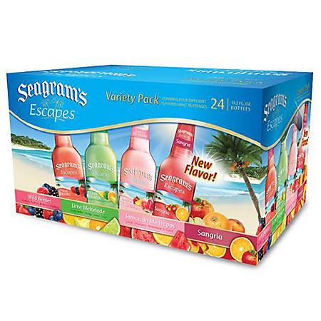 Seagram's Escapes Variety Pack (11.2 oz bottle, 24 pk.)
