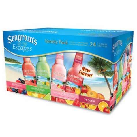 Seagram's Escapes Variety Pack - 24/11.2 oz bottles.