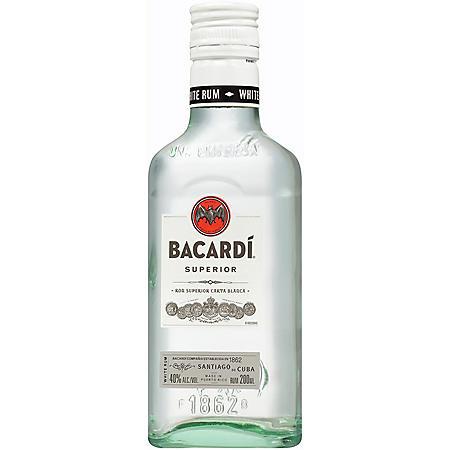 Bacardi Blanco Superior Rum (200 ml bottle, 24 ct.)