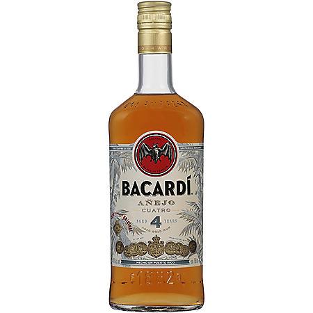Bacardi Rum Anejo Cuatro (750 ml)
