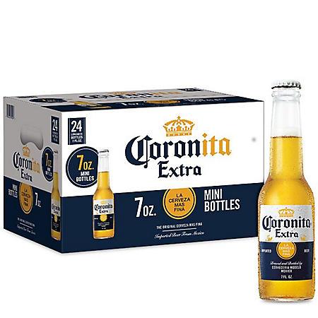 Corona Extra Coronita Mexican Lager Beer (7 fl. oz. bottle, 24 pk.)
