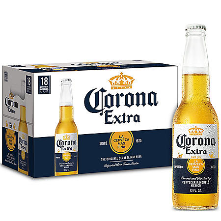 Corona Extra Mexican Lager Beer (12 oz. bottles, 18 pk.)