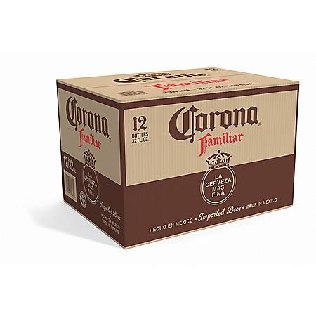Corona Familiar Mexican Lager Beer (32 fl. oz. bottle, 12 pk.)