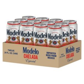 Modelo Chelada Especial Flavored Mexican Import Beer (24 fl. oz. can, 12 pk.)