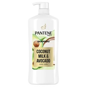 Pantene Pro-V Paraben Free, Dye Free, Mineral Oil Free Coconut Milk and Avocado Moisturizing Shampoo for Dry Hair (38.2 fl. oz.)