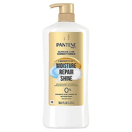 Pantene Pro-V Ultimate Care Moisture + Repair + Shine Conditioner for Damaged Hair and Split Ends (38.2 fl. oz.)
