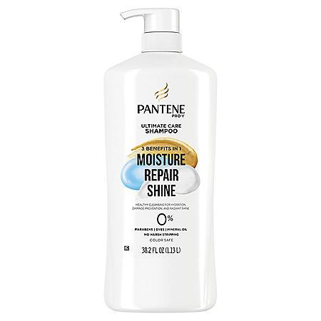 Pantene Pro-V Ultimate Care Moisture + Repair + Shine Shampoo for Damaged Hair and Split Ends (38.2 fl. oz.)