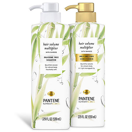 Pantene Nutrient Blends Hair Volume Multiplier with Bamboo, Dual Pack (17.9 fl. oz., ea.)