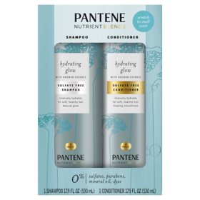 Pantene Hydrating Glow with Baobab Essence Sulfate-Free Shampoo and Conditioner (17.9 fl. oz., 2 pk.)