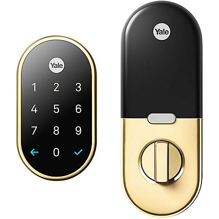Google Nest x Yale Lock (Polished Brass) with Nest Connect (Gold)