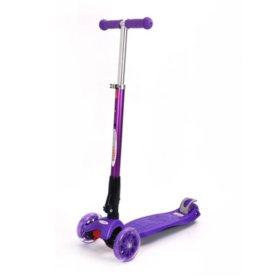 Chromewheels Mega Glidekick 3-Wheel Foldable Scooter + Light Up Wheels