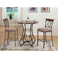 Hamilton Pub Table & Bar Stools 3-Piece Set