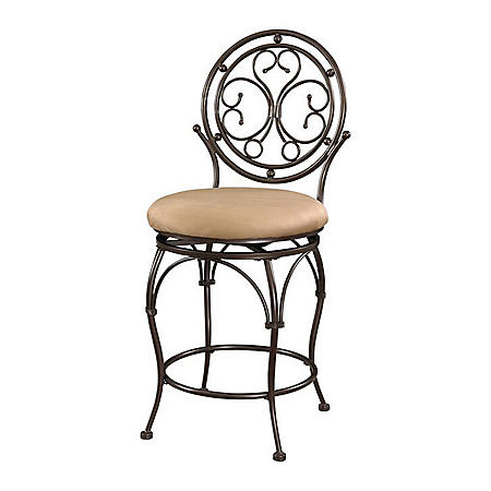 Big & Tall Circle Scroll-Back Bar Stool (Assorted Sizes)