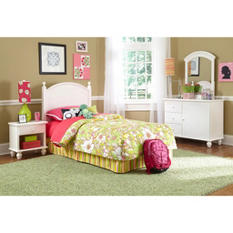 Cottage Twin Bedroom Set, White