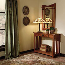 Mission Oak Console Table and Mirror