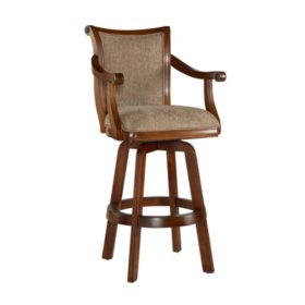 Brandon Swivel Bar Stool, Warm Cherry