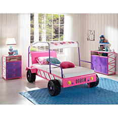 Dune Buggy Car Twin Size Bed - Pink