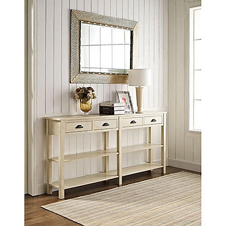 Farmhouse Console Table, Cream Crackle