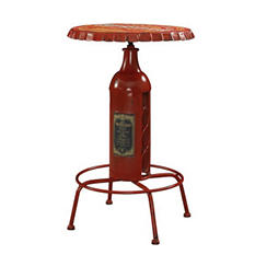 Vintage Bottle-Cap Pub Table