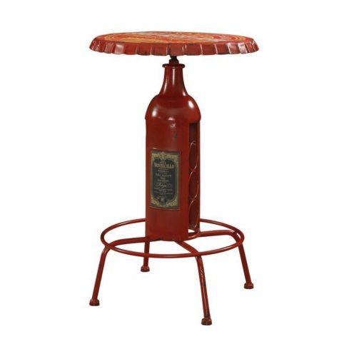 Vintage Bottle-Cap Pub Table