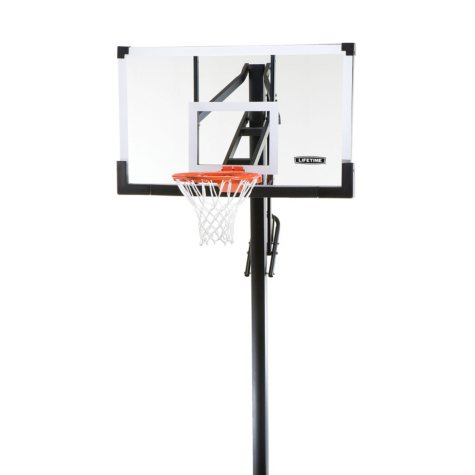 """Lifetime 54"""" In-Ground Tempered Glass, Basketball System"""