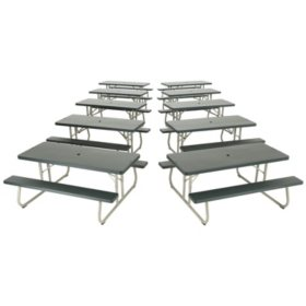 Lifetime 6' Folding Picnic Table - Putty - 10 pack
