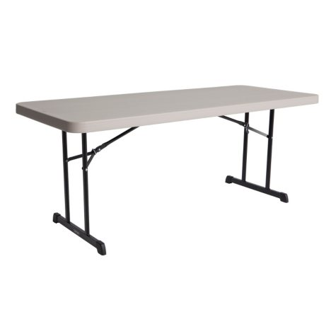 Lifetime 6' Professional Grade Folding Table, Putty - 4 pack