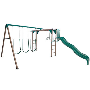 Lifetime Monkey Bar Adventure Swing Set - Earthtones