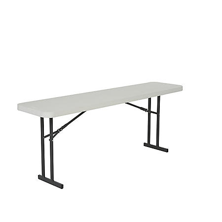 Lifetime 6' Folding Seminar Table, 5 Pack - White Granite