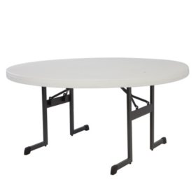 "Lifetime 60"" Round Professional Grade Folding Table, Choose a Color"