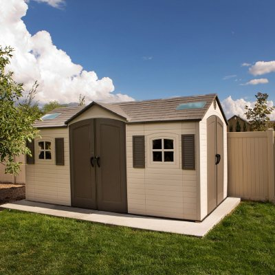 Lifetime 15' x 8' Dual-Entry Outdoor Storage Shed