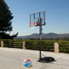 Lifetime 90227 Adjustable Portable Elite Basketball Hoop + Basketball