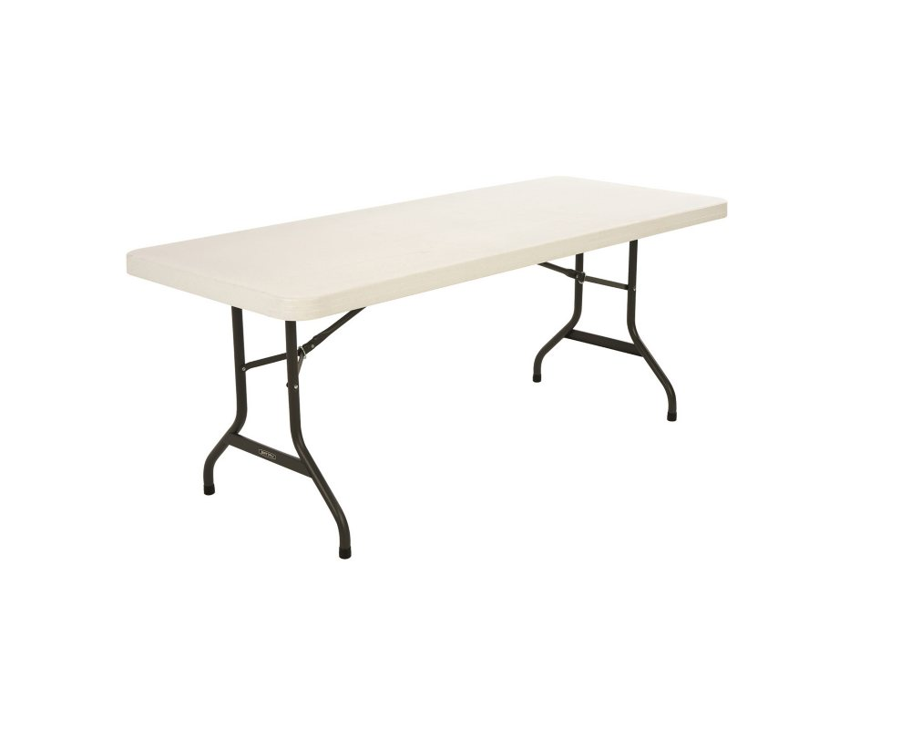 Lifetime 6 Commercial Grade Folding Table, Almond (Select Quantity)