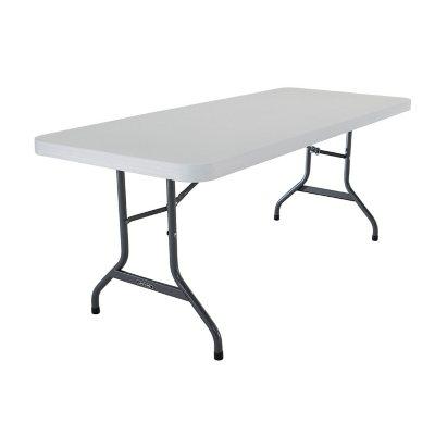 Lifetime Commercial Grade Folding Table   6ft.   White