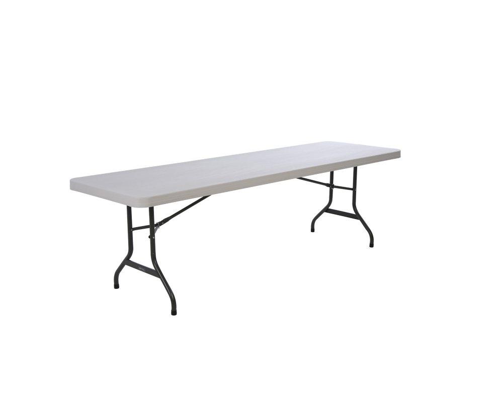 Lifetime 8 Commercial Grade Folding Table, Almond (Select Quantity)