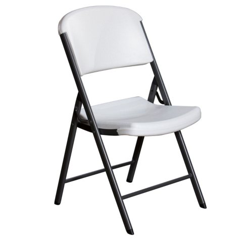 Lifetime Commercial Grade Contoured Folding Chair, Select Color - 4 pack