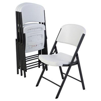 Charmant Lifetime Commercial Grade Contoured Folding Chair, 4 Pack, Choose A Color