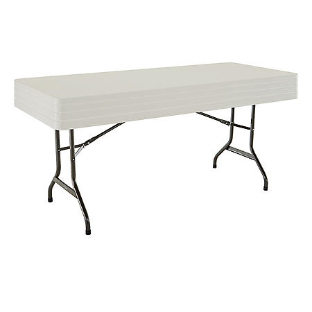 Lifetime 6' Commercial Grade Stacking Folding Table, 4 Pack, Choose a Color
