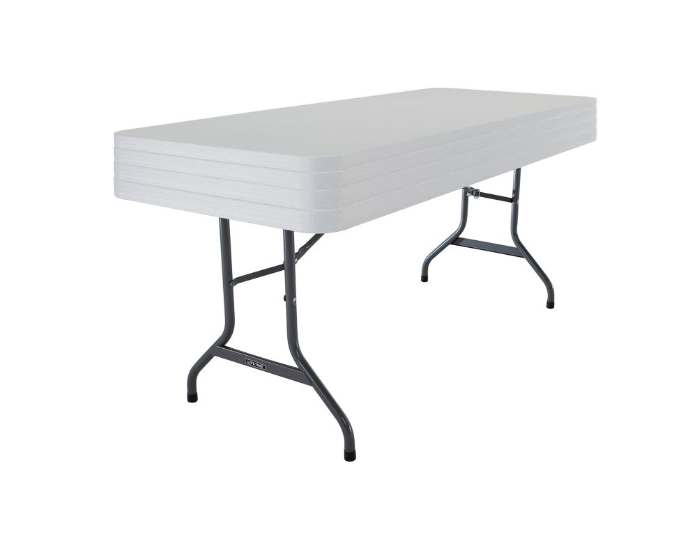 OFFLINE Lifetime 6 Commercial Grade Folding Table, Select Color   4 pack