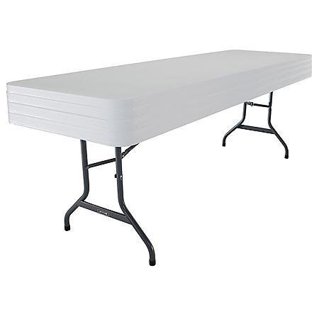 Lifetime 8' Commercial-Grade Folding Table - 4 Pack, Choose a Color
