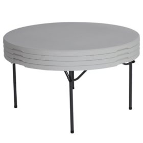 Lifetime 60 Round Commercial Grade Folding Table 4 Pack