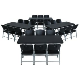 1a0f8ccdb61 Lifetime Combo - (4) 6  Commercial Grade Folding Tables and (24) Folding  Chairs