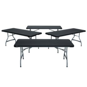 16d5f93f7c6 Lifetime Combo - (4) 6  Commercial Grade Folding Tables and (24 ...