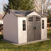 Deals on Lifetime 10ft x 8ft Outdoor Storage Shed with Carriage Doors