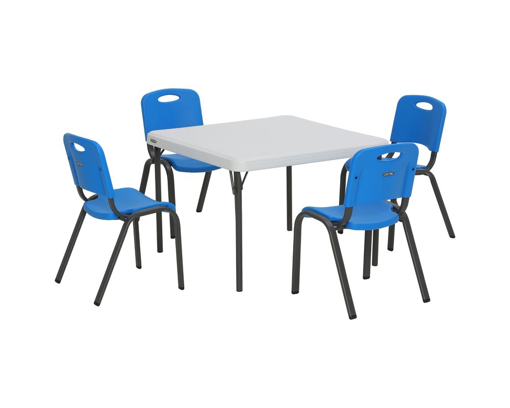 Lifetime Childrens Combo One 29 Commercial Grade Table and 4 Stack Chairs( Assorted Colors)