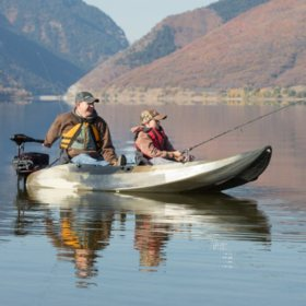 Lifetime Sport Fisher Kayak/Motor Mount Combo, Camo