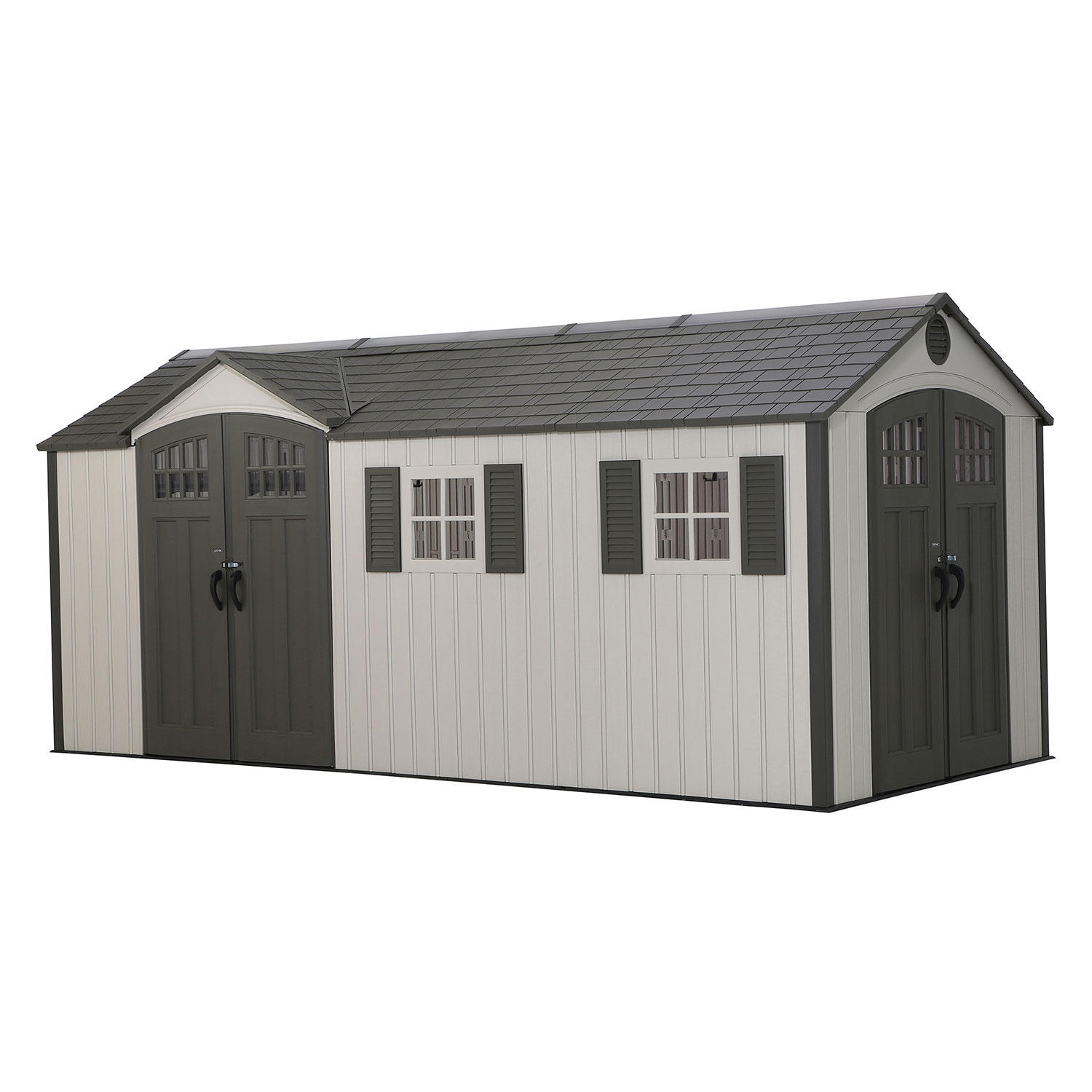 Lifetime 8x17.5-Foot Dual-Entry Storage Shed