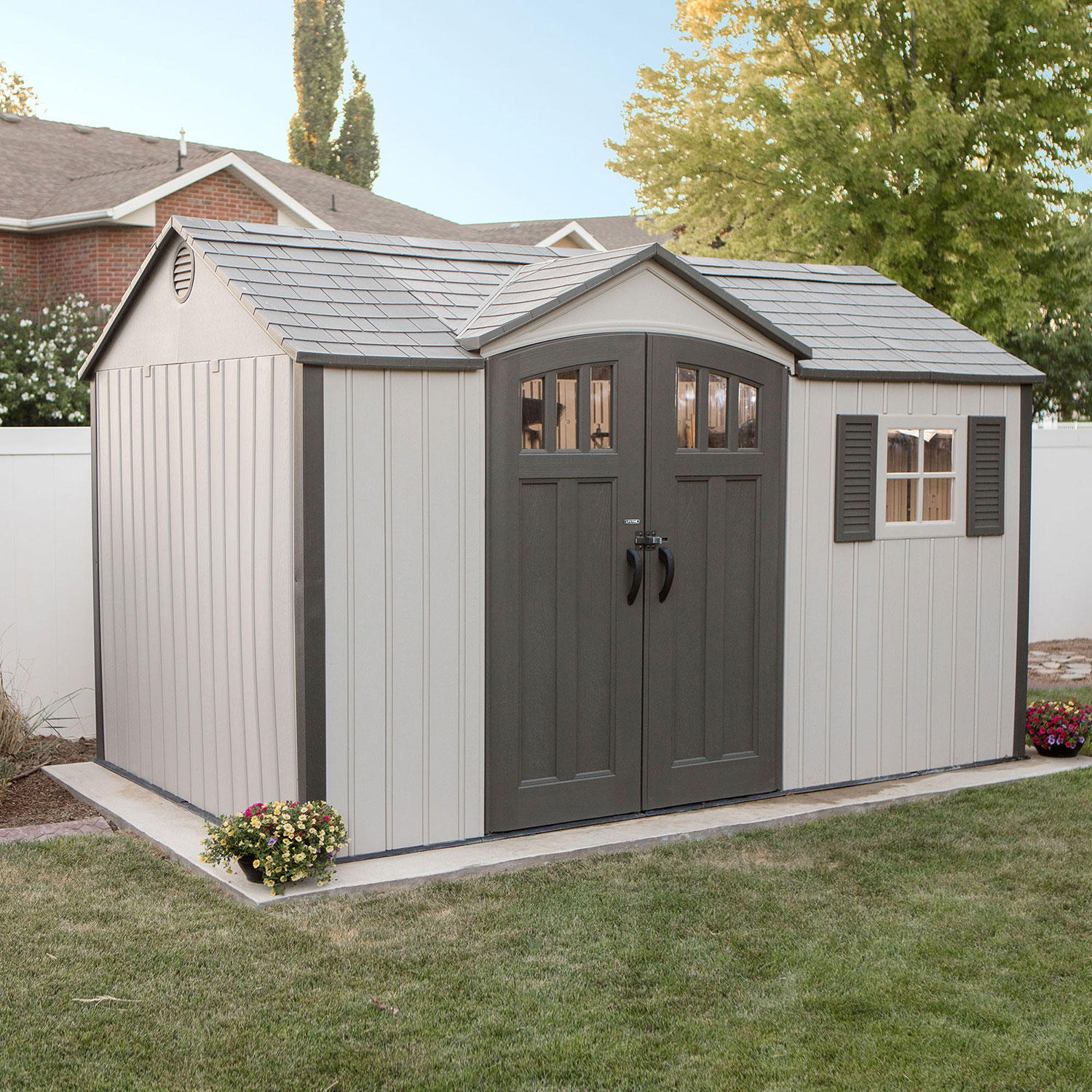 Lifetime (980025371) 12.5′ x 8′ Outdoor Storage Shed